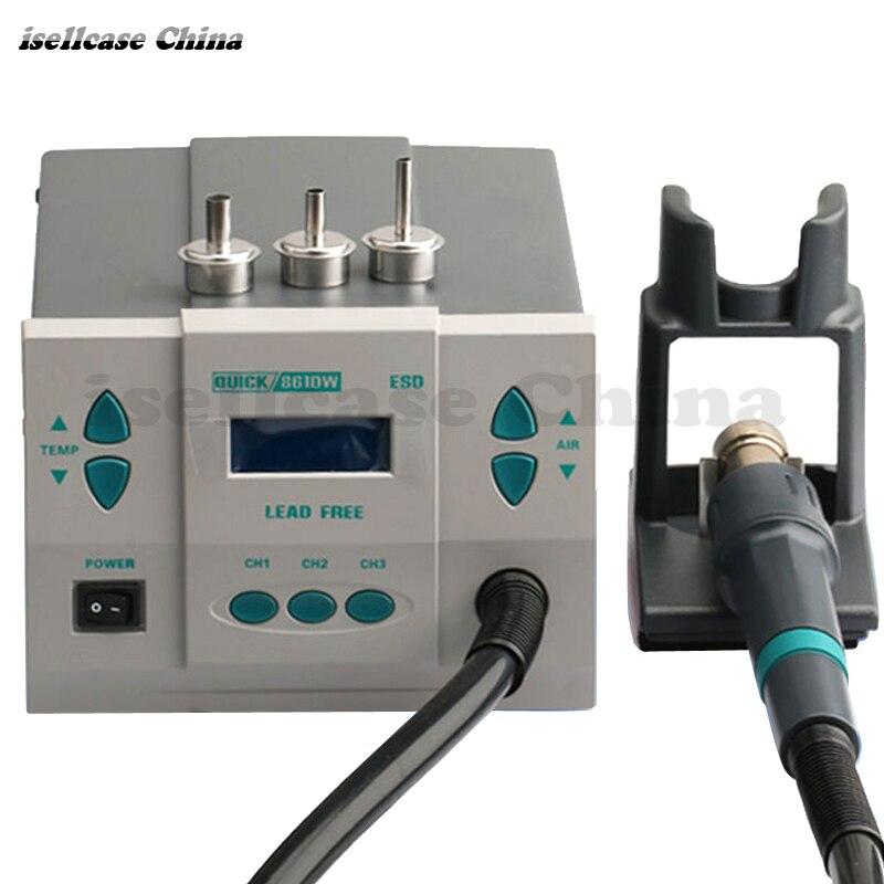 цена на Wozniak QUICK861DW heat gun 1000W lead-free hot air desoldering station microcomputer temperature Hot Air control Rework Station