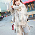 Beautiful winter Couple Thick Scarf New Simple Stylish Warm Long Knit Crochet Cotton soft Scarves Female Women Free Shipping