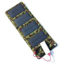 Top New  Portable Solar Charger for Mobile Phone Camping Travel Foldable Solar Panel Charger with USB Port 7W