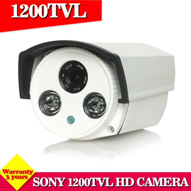 HD Sony camera 1200TVL 1.0MP Bullet high array leds camera waterproof night vision IR cut filter 1/3 security camera system hot ahd camera 960p 1 3mp sony imx238 chip high power array leds waterproof clear night vision ir filter 1 3 serveillance camera