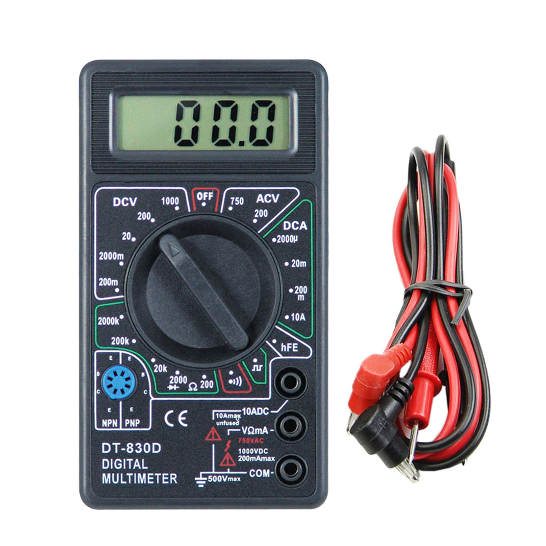 Three Phase Lcd Digital Voltage Ampere Meter Combined Meters Ac Volt Amp Wiring Dc Multimeter With Buzzer Test Probe New Style Accessories
