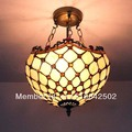 Tiffany glass chandelier bedroom lamp European-style den Gypsophila decorative lights DIA 30 CM H 42 CM