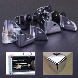 8 шт. металла угловой кронштейн угол Брейс протекторы для деревянный сундук поле груди Flightcase