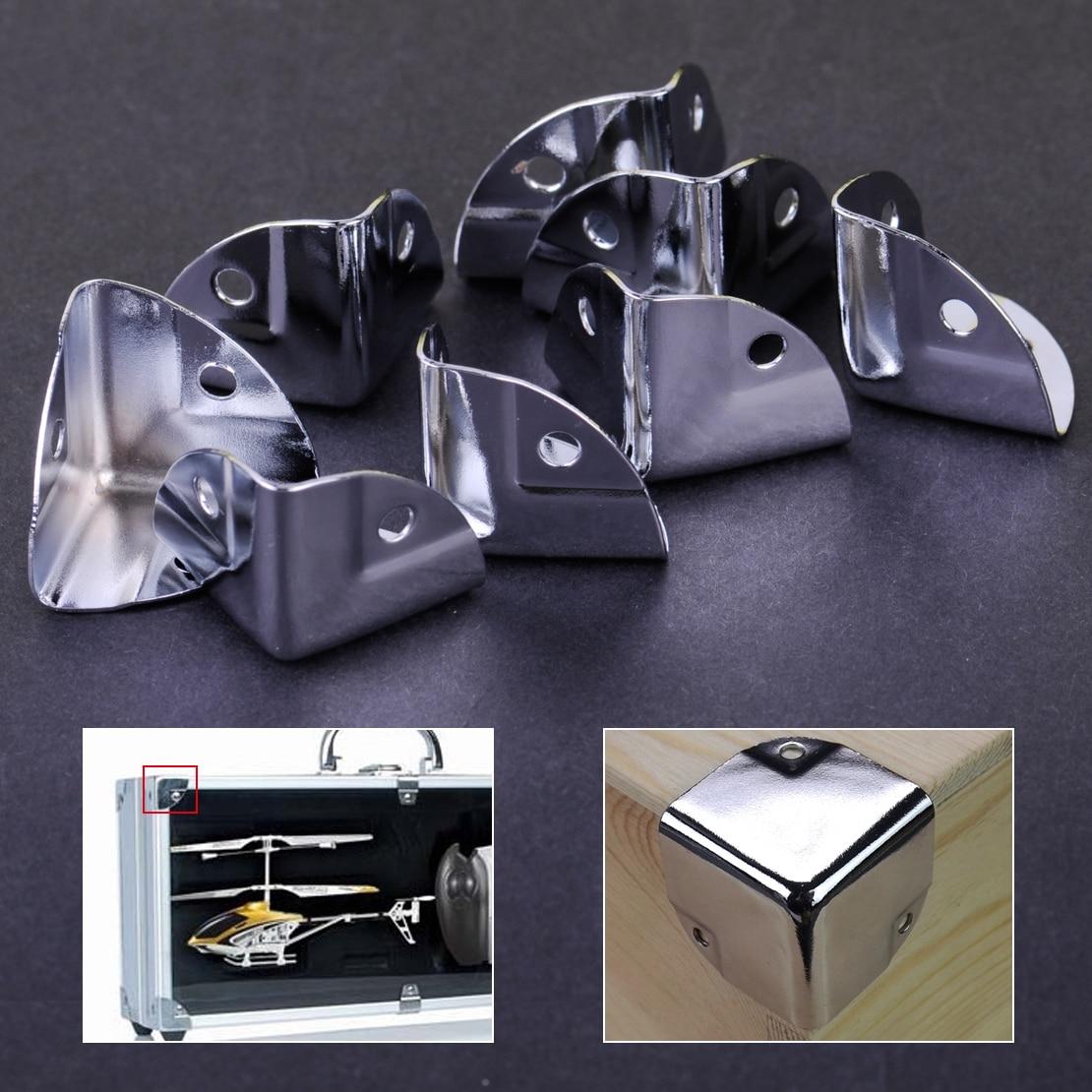 8 pz Angolo di Metallo Staffa di Angolo Brace Protezioni per il Tronco di Legno Box Petto Flightcase8 pz Angolo di Metallo Staffa di Angolo Brace Protezioni per il Tronco di Legno Box Petto Flightcase