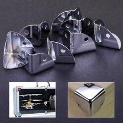 8 sztuk metalowy wspornik narożny kąt ochraniacze dla drewniane bagażnik Box w klatce piersiowej Flightcase w Nogi meblowe od Meble na