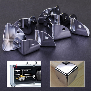 8pcs Metal Corner Bracket Angle Brace Protectors for Wooden Trunk Box Chest Flightcase