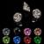 Beleza Cor preta Cúbicos de Zircônia Pedra Redonda Broches Roupas 3D Design de Unhas Arte Suprimentos Decorações DIY 4-18mm para a Jóia