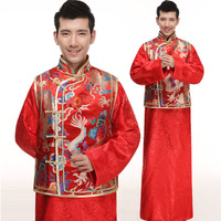 New Chinese Folk Costume Men Traditional Wedding Costume Male DragonTang Robe Hanfu Suit Chinese Ancient Cosplay Costume16