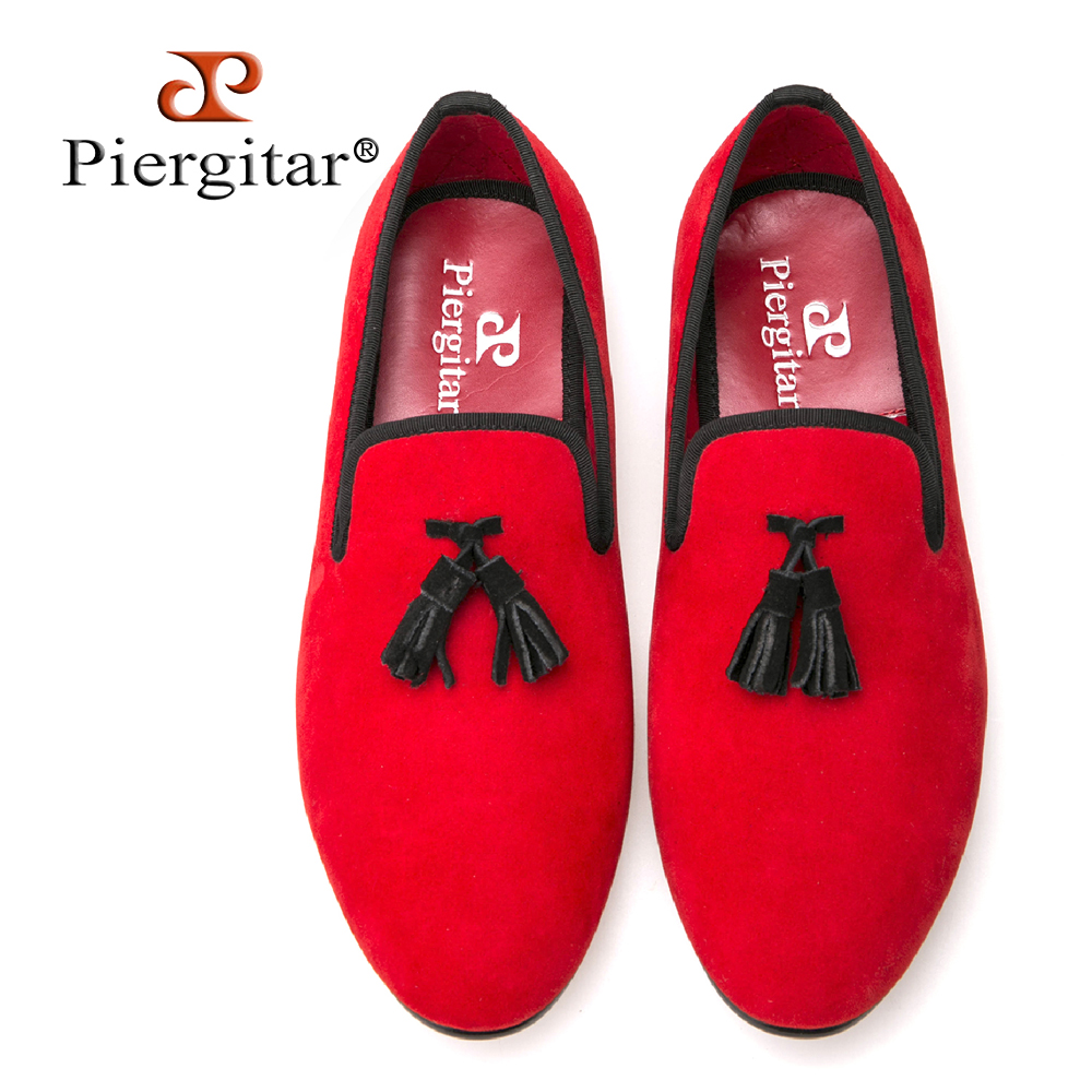 2018 New arrival Velvet men shoes Exquisite black Tassel Smoking Slipper Men Flats Size US 4-14 Free Shipping