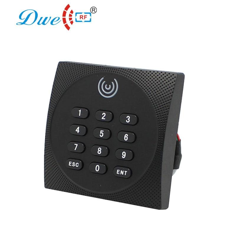 DWE CC RF control card readers em4100 125khz rfid nfc access control keypad card reader wiegand scanner 13.56mhz dwe cc rf access control card black rfid reader tag em4100 keyfobs for access control system k016