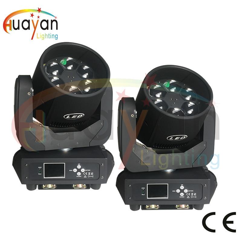 Free shipping:2pcs LED Beam Zoom Wash 6*40W Moving Head Led Pro Dj Lights Zoom Angle 4~36 Degree Ultra Bright Beam Bee Eye Stage