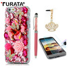 3D Luxury Bling Diamond Glitter Hard Back Case Cover For IPhone 6 4 7 Tempered Glass