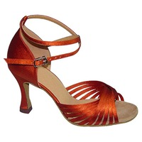 Woman Latin Dance Shoes 7/7.5/8/8.5 cm or Other Heel Brown/Yellow/Red Different Color For Choice JYG903