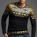 De Calidad superior 2016 De Moda Tops Hombres camisa Ocasional de Los Hombres del Otoño marca de Ropa de lujo de La Camiseta de Los Hombres de Manga Larga camiseta