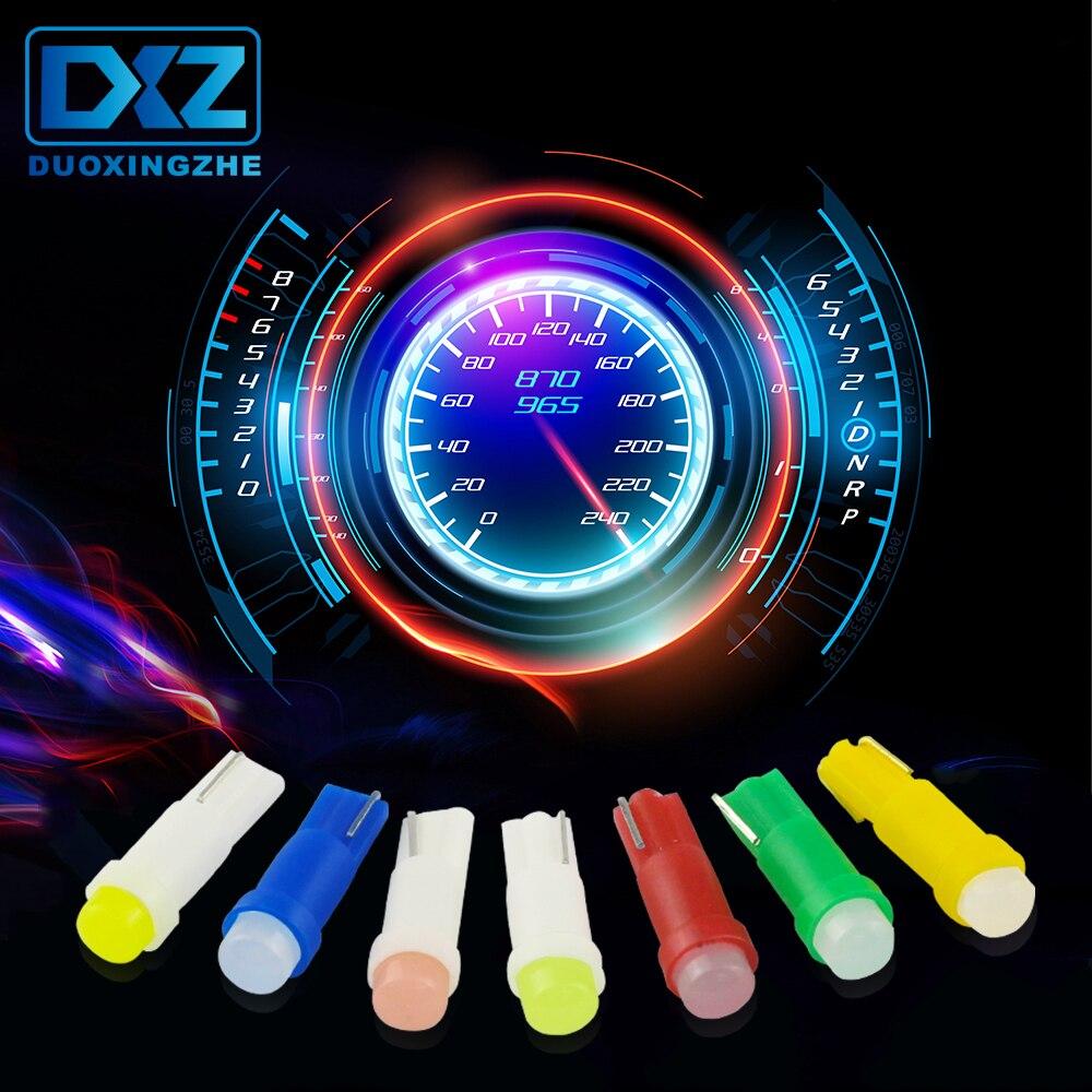40*Car T5 T10 LED 5050SMD Instrument Panel Dashboard Light Bulb 5color Lamp 12V