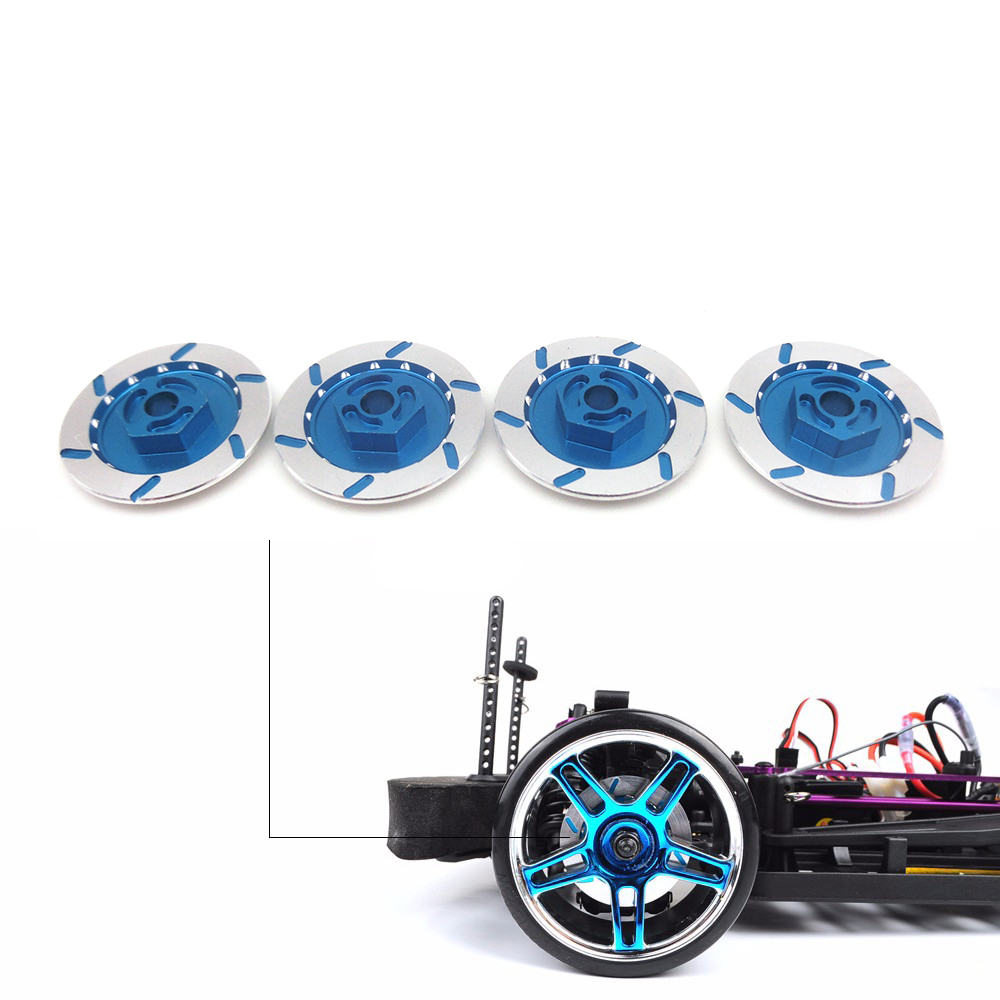 4PCS Aluminum Alloy Upgrade Parts Wheel Rim Brake Disc for 1:10 4WD RC On-Road Racing Model Car HSP HPI Kyosho TAMIYA aluminum 6 spoke wheel rim for 1 10 rc on road racing car