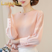 Chiffon Blouse Laipelar Women Autumn 2018 Long Sleeve Ladies Office Shirts Korean Fashion Lace Hollow Out Top Blusas