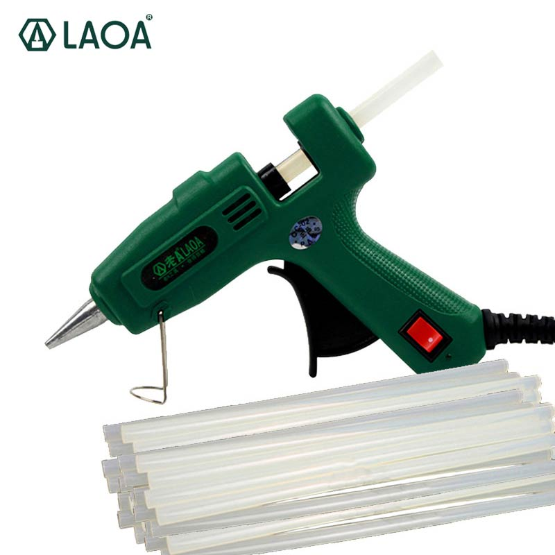 Image 2 - LAOA 25W/100W Hot Melt Glue Gun Pistolet a colle Mini For Metal Wood Working Stick Paper Hairpin  PU Flowers With EU plug-in Glue Guns from Tools on
