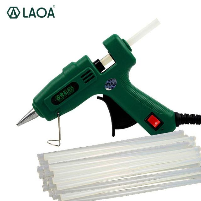 LAOA 25W/100W Hot Melt Glue Gun with Free Sticks
