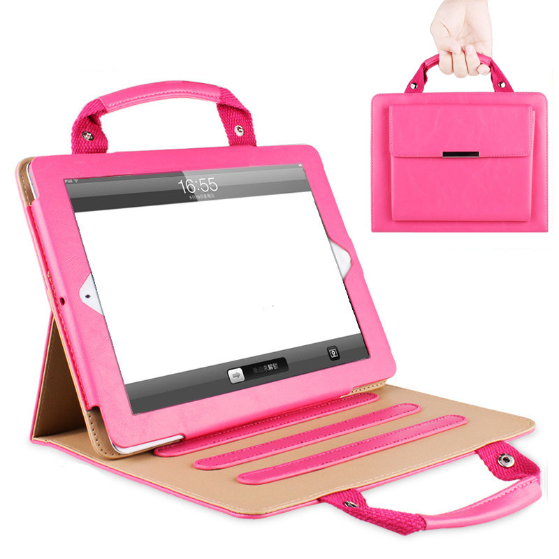 Fashion PU Leather Case For Apple iPad Air 2 Ipad 6 9.7 Inch Tablet Handbag Prortable Cover Case for Women +Free Stylus Pen