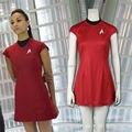 Фильм Star Trek Into Darkness Ухура Красный Летнее Платье Косплей Офицер Связи Костюм
