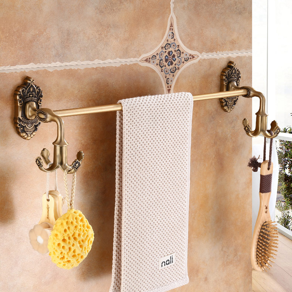 A1 Bathroom antique single wall hanging rotating hook towel hanging rod towel rack towel bar wx6261036 a1 hotel bathroom washbasin wall hanging solid thickening rack space aluminum wall hanging storage rack wx7201648
