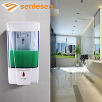 Wholesale And Retail Free Shipping NEW Bathroom Wall Mounted Touch Soap 3 Box Liquid Shampoo Bottle