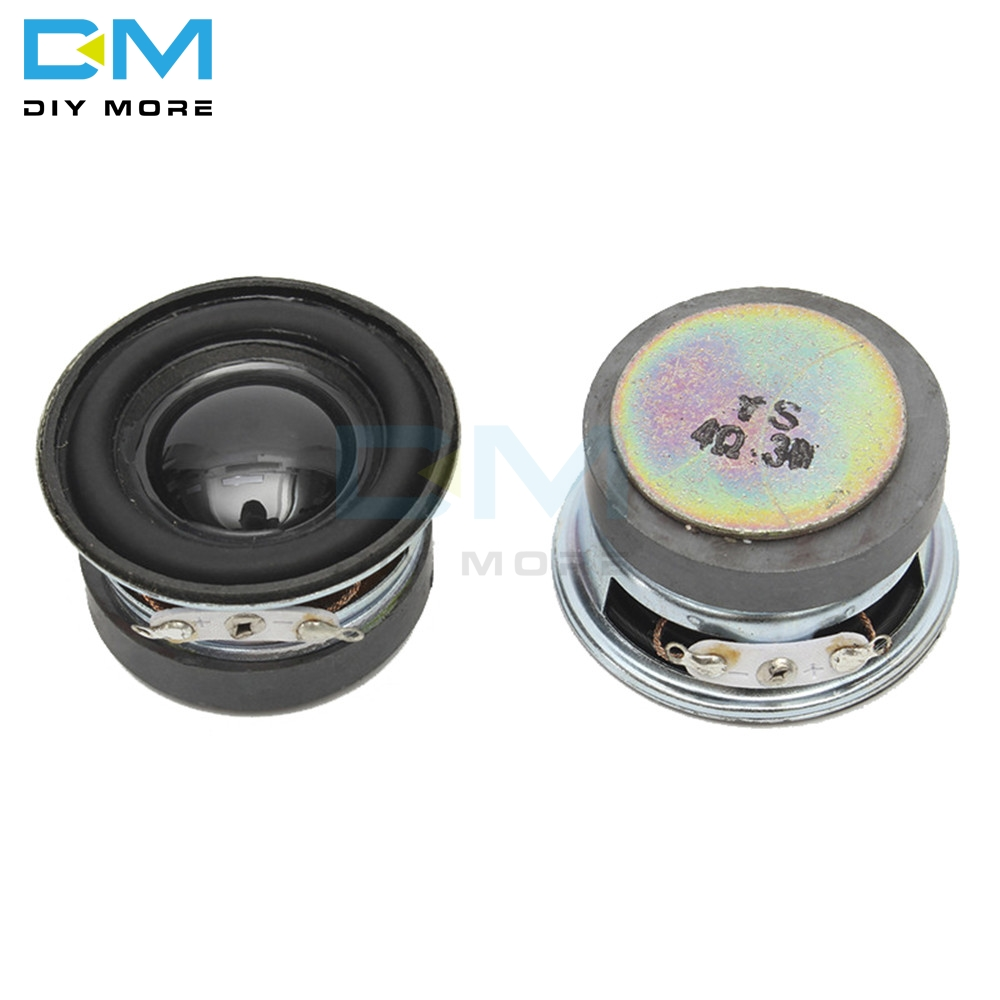 Acoustic Speaker 4 Ohm 3W 40MM Speaker 36MM External Magnetic Black Hat PU Edge Acoustic Components