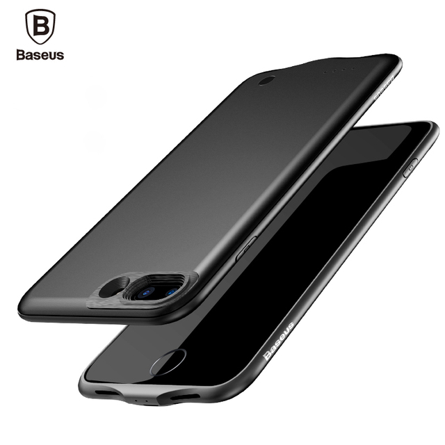 premium selection e3bb5 8d95b US $35.98 |Baseus External Battery Charger Case Portable Power Bank Pack  Backup Battery Case for iPhone 7 plus 3650mAh-in Power Bank from Cellphones  & ...