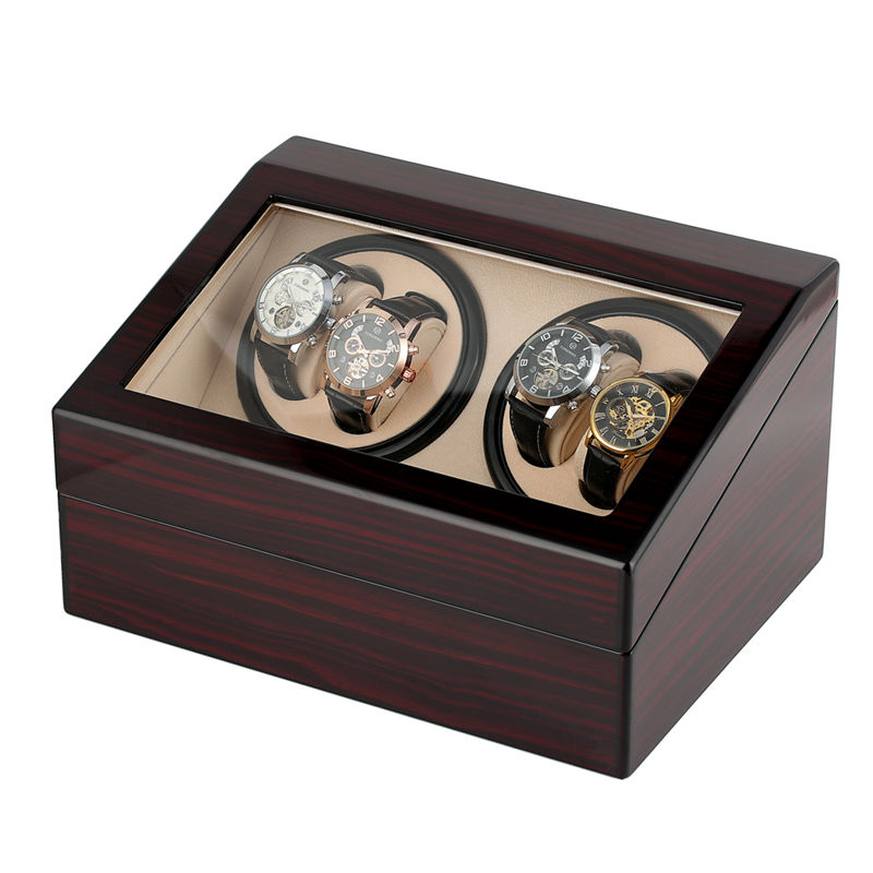 US/EU/AU/UK Plug Watch Winder Box Classic Automatic Mechanical Watches Storage for Holder 4 Watches Display Jewelry caja reloj | Watch Winders