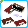 New 2 Colors Stainless steel Hasp Card Case Business Name id Credit Card Holder Porte Carte Credit Card Stock