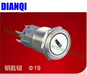 19mm waterproof metal latching key push button brass 3 position Push Button 2NO 2NC Switch Press-Button 19YS,3D.2K2B adora22 2nc 024ru