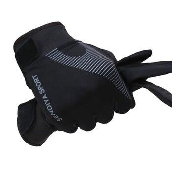 1 Pair Bike Bicycle Gloves Full Finger Touchscreen Men Women  MTB Gloves Breathable Summer Mittens 19ing - Black-M, L
