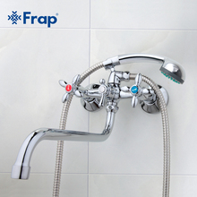 Frap Classic shower faucet Long trunk bathroom Bathtub mixer Hot and cold water