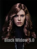 Custom Black Widow 5.0 1/6 Head Sculpt for Hot Toys Phicen Kumik Female Body