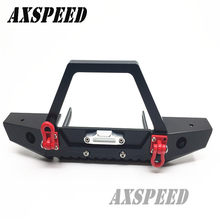 Good quality Alloy Front Bumper w/ Winch Mount Shackles For Axial SCX10 1/10 RC ROCK Crawler(China)