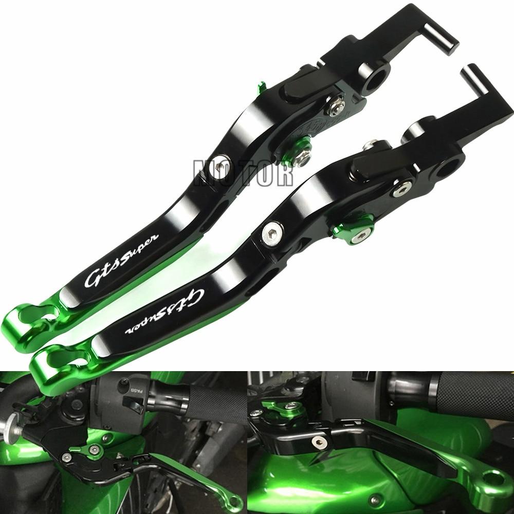 Pour Vespa Granturismo 125/200 GTS 125/250 S125/150/300 Super CNC accessoires de moto leviers d'embrayage de frein extensibles pliants
