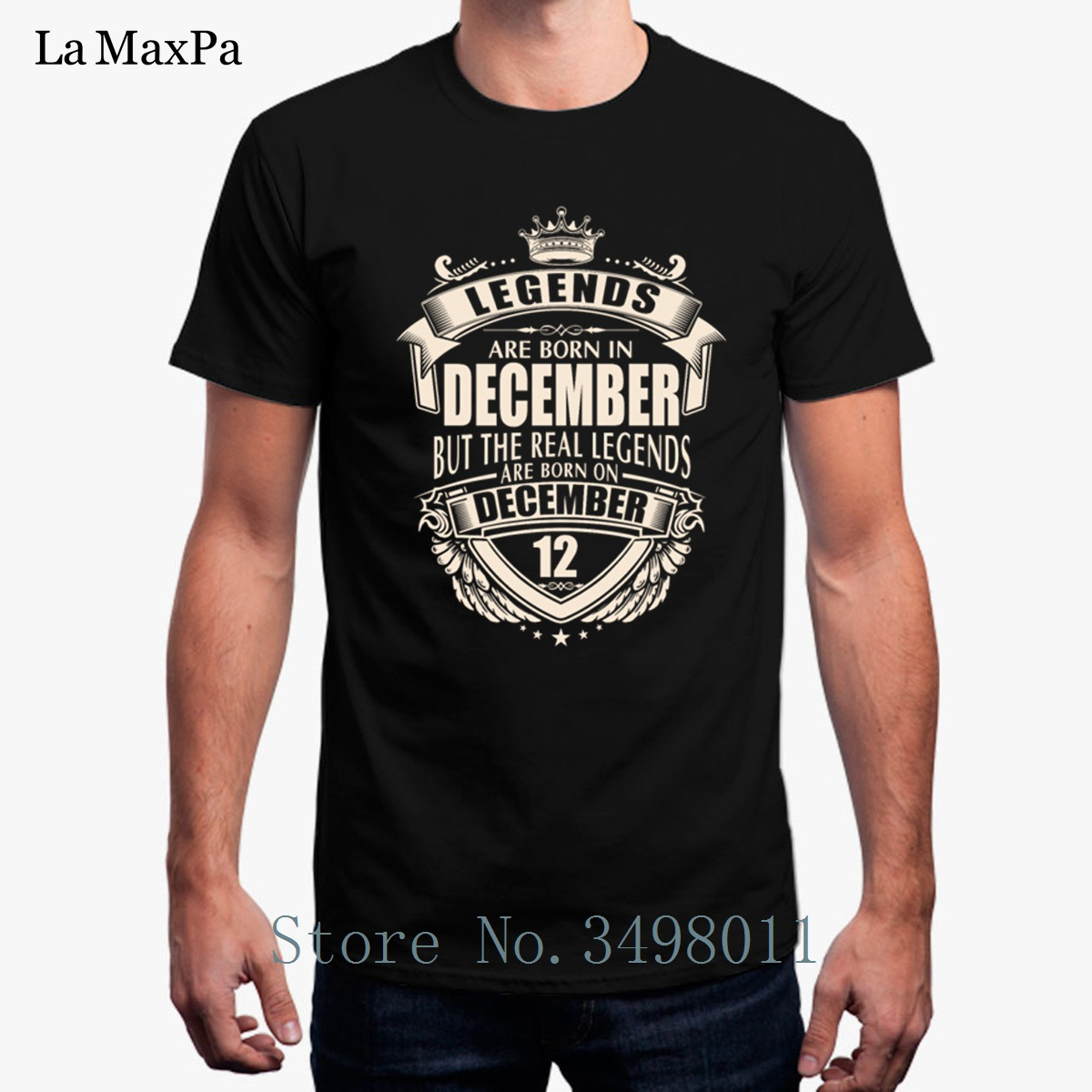 Kings are Born in December Mens T-Shirt