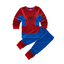 Kleinkind pyjamas Jungen Spiderman Captain America Mädchen Cartoon kleidung Kinder Super-Homem Enfant Pyjama kinder kleidung set Neue(China)