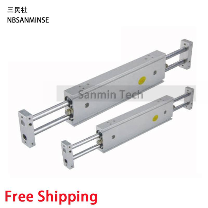 Dual Rod Cylinder Double Rod Pneumatic Compressed Air Parts CXSW SMC Type Sanmin Pneumatic Compressed Air Cylinder free shipping air cylinder pneumatic compressed parts msqb type pinion air non lube smc high quality on best sale sanmin
