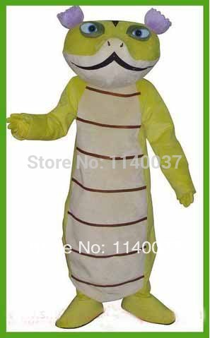 NO.1 MASCOT Kungfu Snake Mascot Costume Adult Size Cartoon Character Snake Boa Mascotte Outfit Suit Fancy Dress Carnical Costume
