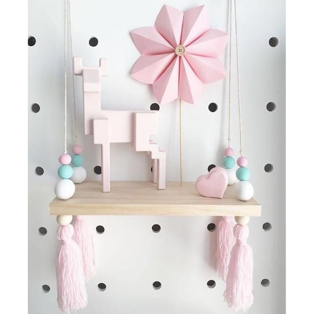 INS Nordischen Stil Holz Möbel Spielzeug Für Kinder DIY Wand Hängen  Hölzerne Regal Kinderzimmer Ornamente Dekoration