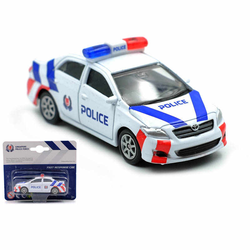 1/64 Alloy Singapore Police Force Diecast Cars Toy Four Wheels Slide Model Car Toys For Children Collection