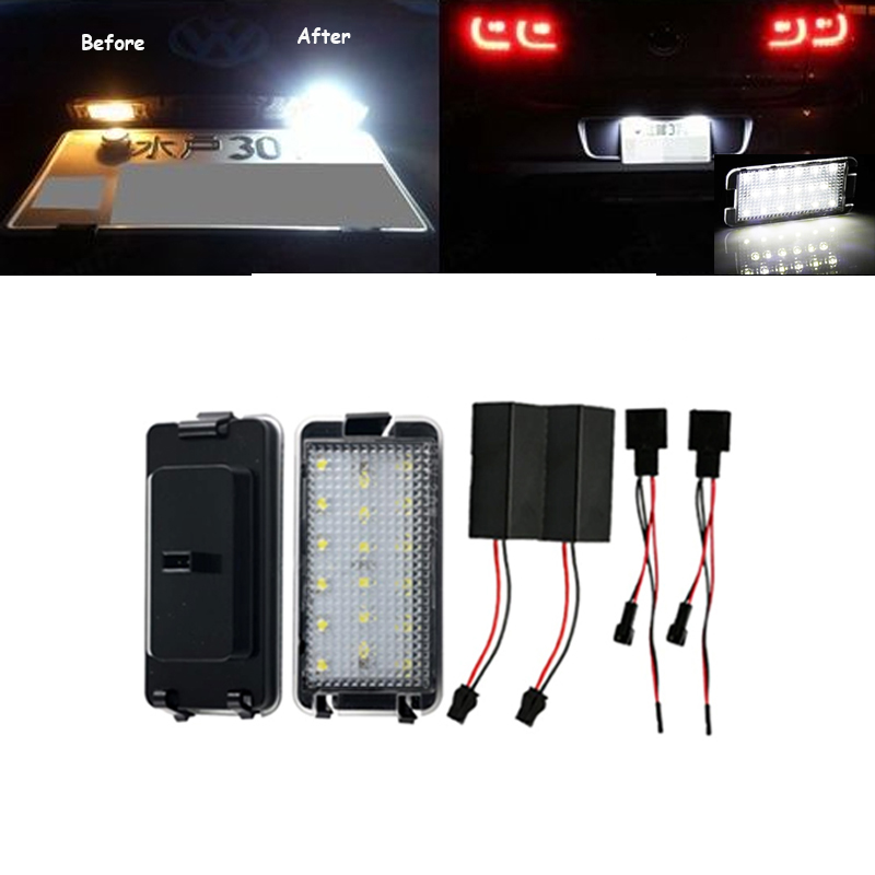 For Seat Altea Arosa Ibiza Cordoba Leon Toledo Free Error 18 SMD LED car license plate light auto accessory car styling newest 220v 1 1kw automatic pump pressure controller electronic switch control for water pump