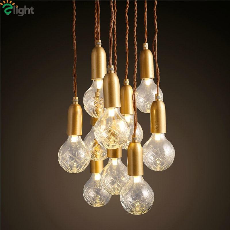 buy modern simple glass diy led chandeliers lustre copper loft bar led chandelier lighting rope spider led hanging lights fixtures from