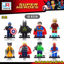 Nova 8 pçs/lote The Avengers Iron-man Hulk Thor Capitão Legoings Bat-man Super Man Wolverine Building Blocks kit de Brinquedos As Crianças Presentes(China)