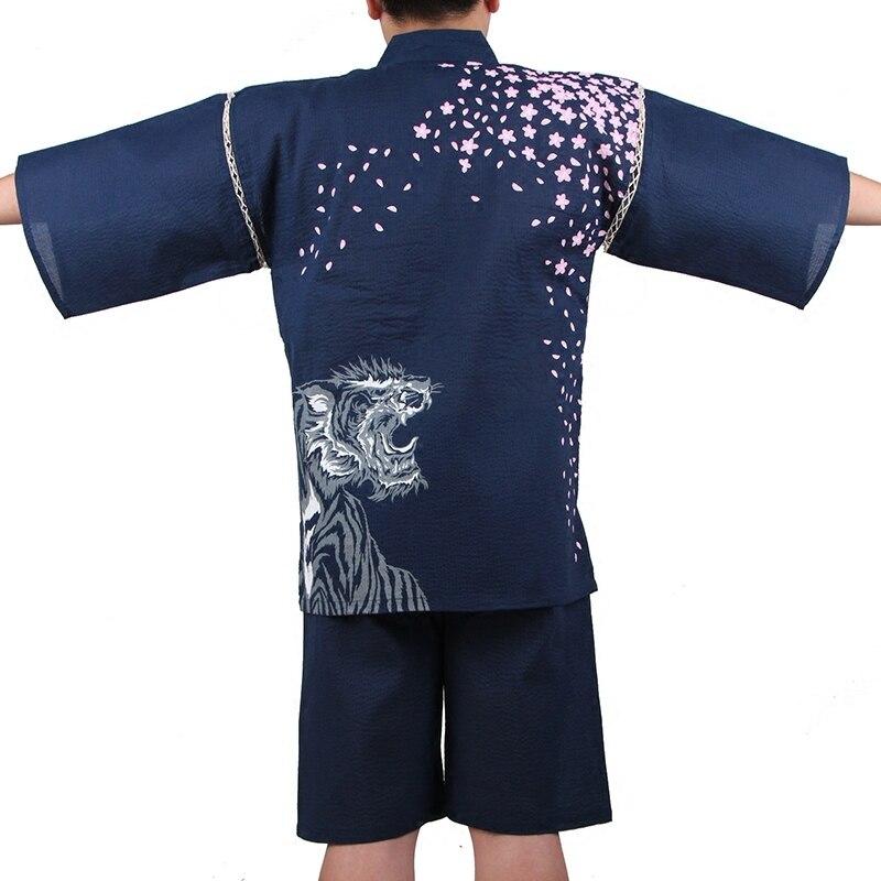 Весенние мужские пижамы из 95% хлопка в японском стиле, пижамные комплекты, простой парный халат с коротким рукавом для сна, мужские пижамы, ...