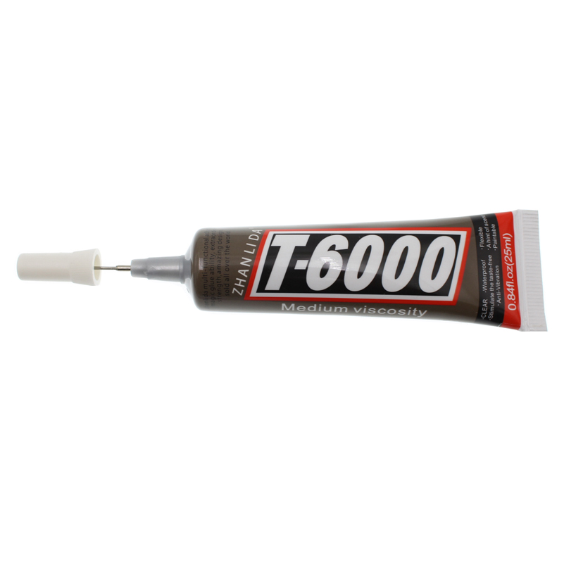 25ML Super Liquid Touch Screen Strong T6000 Glue Fabric Auto Leather Adhesive Metal Wood  T-6000 Bts UV Transparent Epoxy Resin