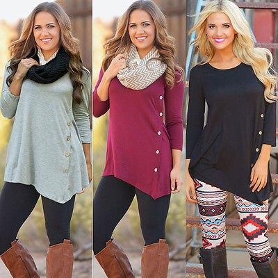 Women Long Sleeve Loose Knitted Sweater Jumper Knitwear Outwear