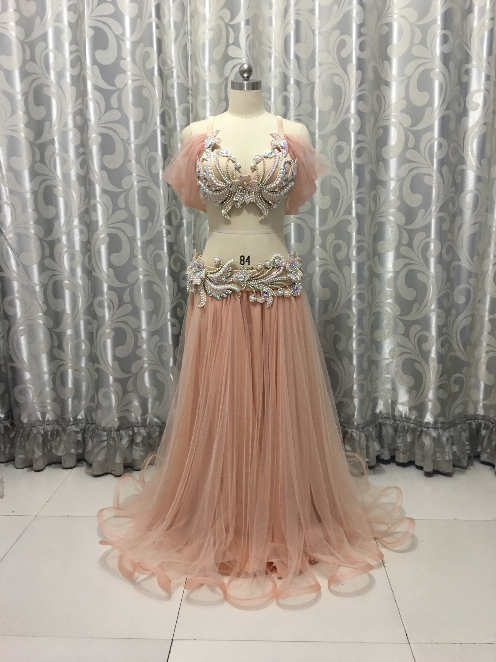Belly Indian eastern dance costumes Bellydance oriental dancing costume clothes bra belt chain scarf ring skirt